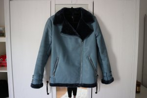 Missguided Flight Jacket neon blue-blue mixture fibre