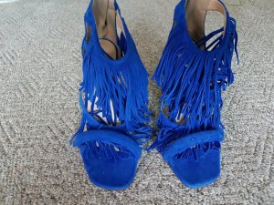 Steve Madden Strapped High-Heeled Sandals steel blue suede