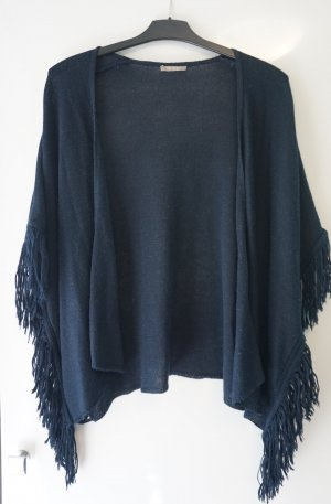 Orsay Fringed Vest dark blue
