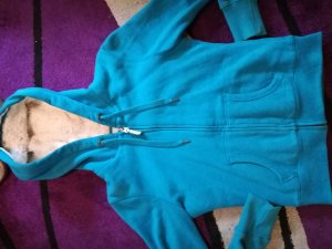 blaue gefütterte Sweatjacke - neu - Größe M
