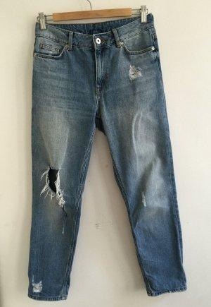 blaue girlfriend jeans von H&M 34 XS
