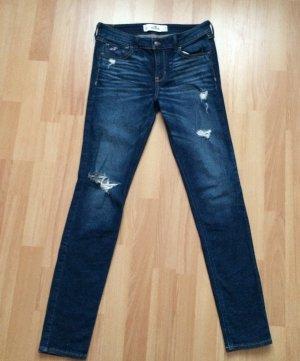 Blaue gut erhaltene Hollister Jeans