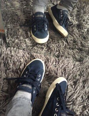 Blaue gut erhaltene Polo Schuhe