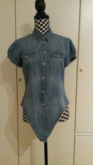 blaue H&M Jeans Bluse
