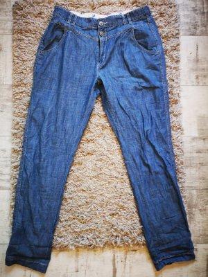 Blaue H&M L.O.G.G. relaxed Hose Gr.34