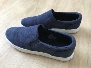 Blaue Halbschuhe aus Leder