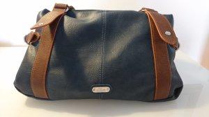 Blaue Handtasche mit braunen Details von s. Oliver