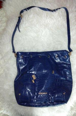 blaue Handtasche von Orsay in Krokolederoptik
