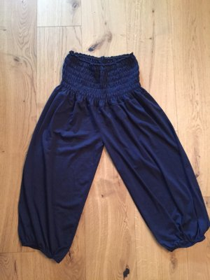 Blaue Haremshose (3/4 bzw 7/8 Länge)