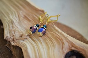 Blaue Hematite Ohrringe