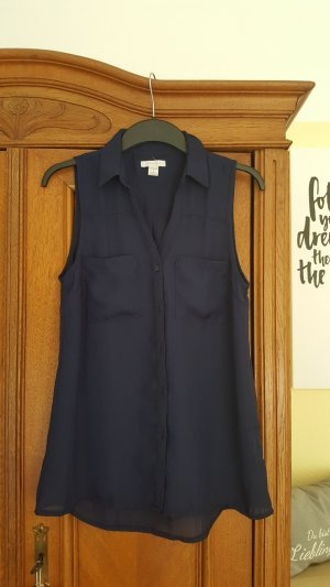 Blaue Hemd-Bluse, Größe S
