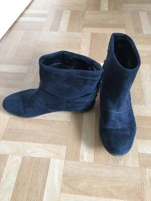 Deichmann Korte laarzen donkerblauw-zwart kunststof
