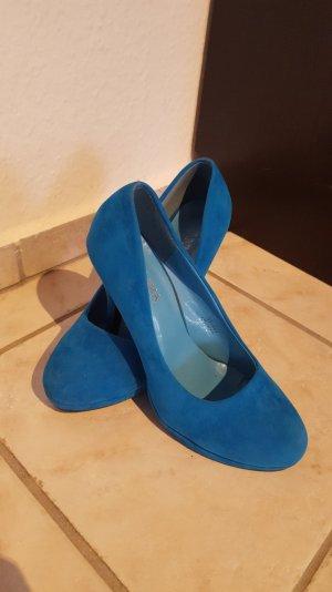 Blaue High Heels 11cm, neuwertig