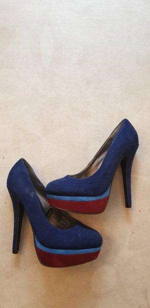 blaue High-Heels