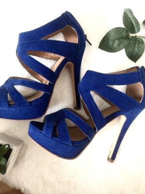 Blaue High Heels Zara