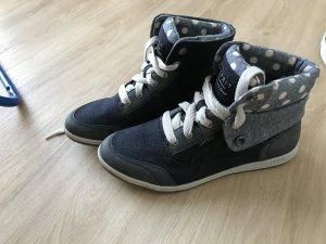 Blaue High Top Sneaker