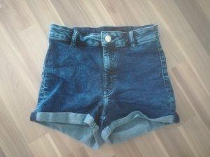 H&M Hoge taille jeans blauw Gemengd weefsel