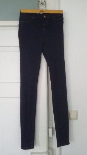 blaue high waist Jeggins von New Look