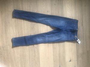 Blaue High waisted Jeans von Abercrombie