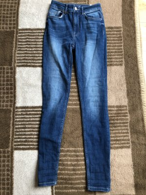 Only Hoge taille jeans blauw-staalblauw
