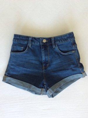 Blaue highwaisted Jeansshort von Zara