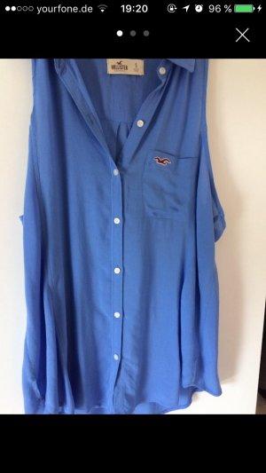 Blaue Hollister Bluse