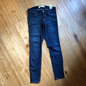 Hollister Pantalón de tubo azul oscuro