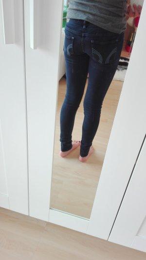 blaue hollister skinny jeans w24 l29
