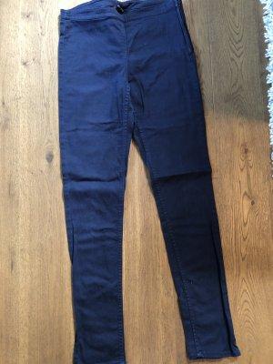 H&M Pantalon strech bleu foncé