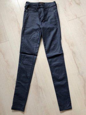 F&F Leren broek donkerblauw