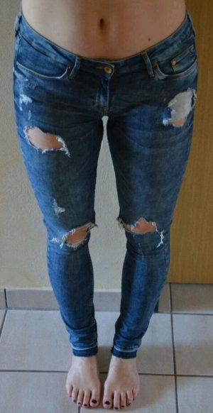 Blaue Hose Jeans von H&M im Used-Look