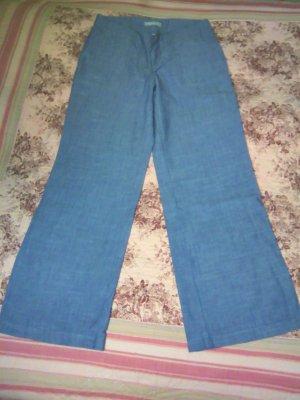 Banana Republic Pantalón de lino azul acero
