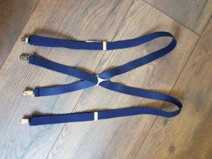 Bretelles argenté-bleu foncé