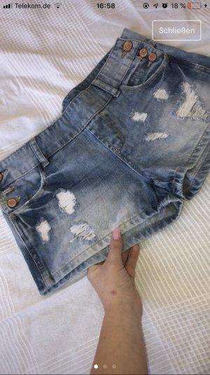 FB Sister Pantalón corto azul acero-azul celeste