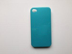 blaue iphone 4/4s hülle mit Pünktchen