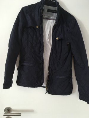 Zara Quilted Jacket dark blue