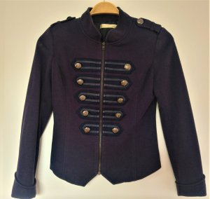 Best emilie Military Jacket dark blue-light grey cotton