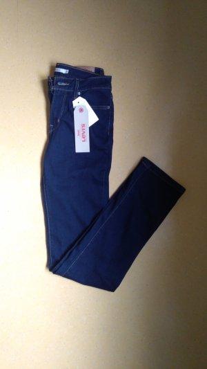 Blaue Jeans 714 Straight Levis W26 L34