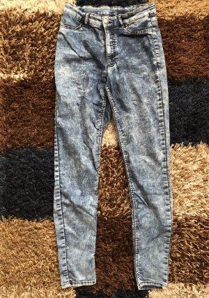 H&M High Waist Trousers steel blue-azure