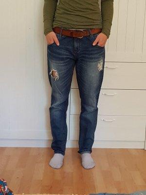 blaue Jeans Boyfriend