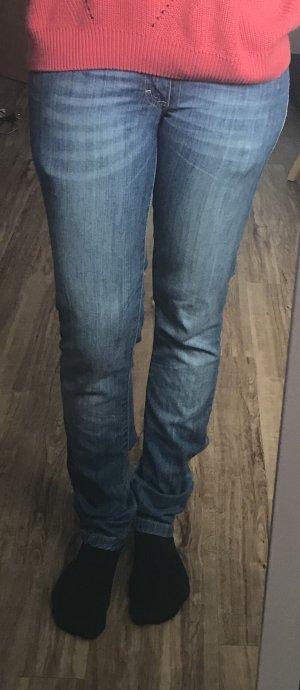 Blaue Jeans, Röhre, Hüfthose, Blend She, Gr. 27