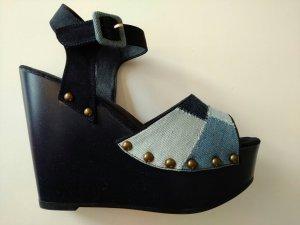 blaue Jeans Sandalen Hippie