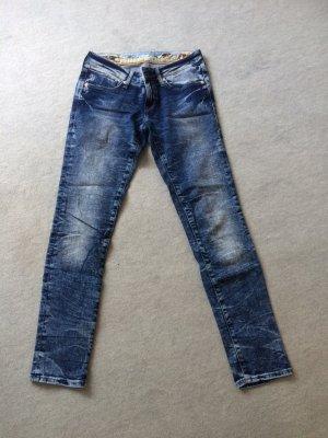 blaue Jeans / Skinny Jeans mit Waschung von Mavi - Gr. XS/S