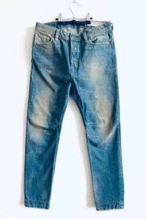 Diesel Boyfriend jeans blauw-groen-grijs