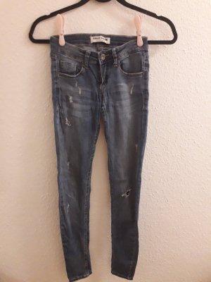 Tally Weijl Jeans skinny gris clair-bleu azur