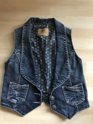 Ann Christine Denim Vest blue-dark blue