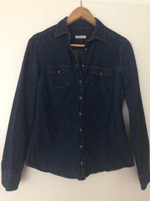 Blaue Jeansbluse von Massimo Dutti
