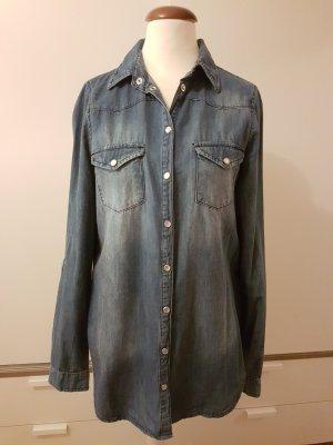 blaue Jeansbluse von Pimkie