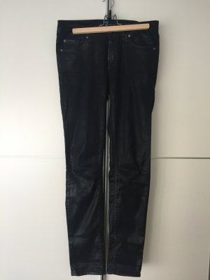 Blaue Jeanshose Modell Christen im Lederlook von 7 for all mankind