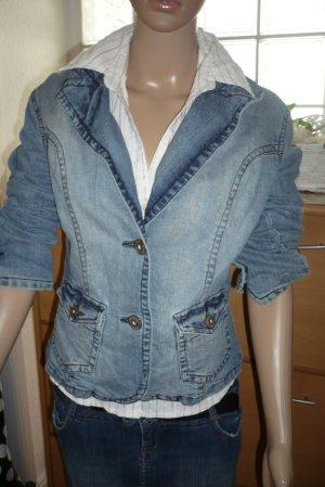 Blaue Jeansjacke-/Blazer von BERSHKA